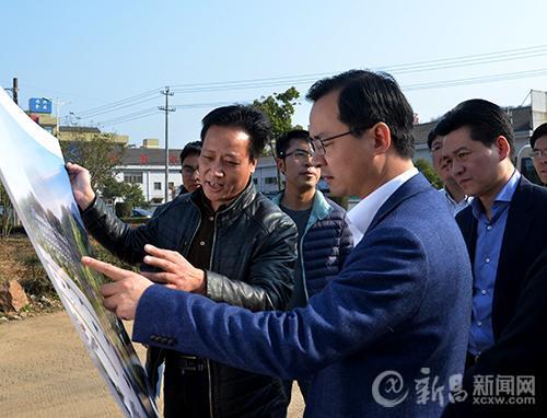 县领导到新昌工业园区走访调研
