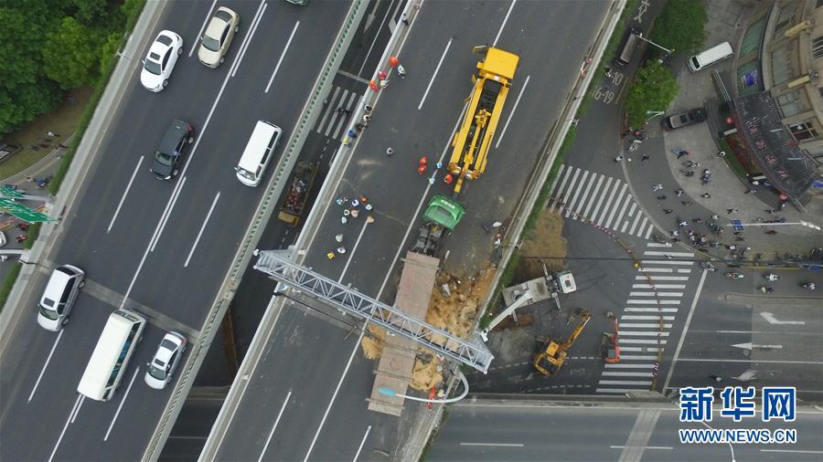 沪高架受损预计修需两周图片