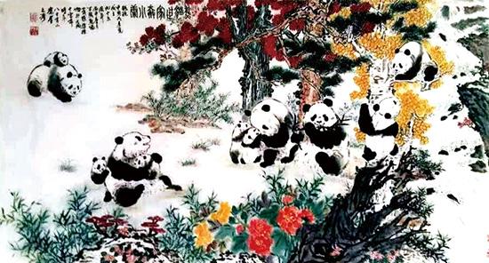 张锦标:创作《熊猫世家奔小康》