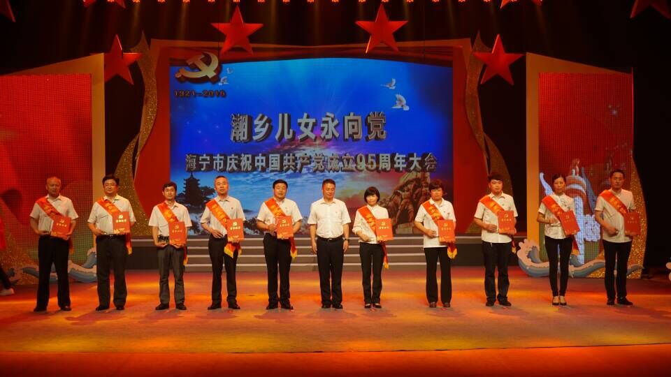 海宁市举行庆祝中国共产党成立95周年大会