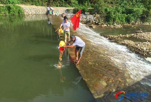 李村村开展增殖放流活动
