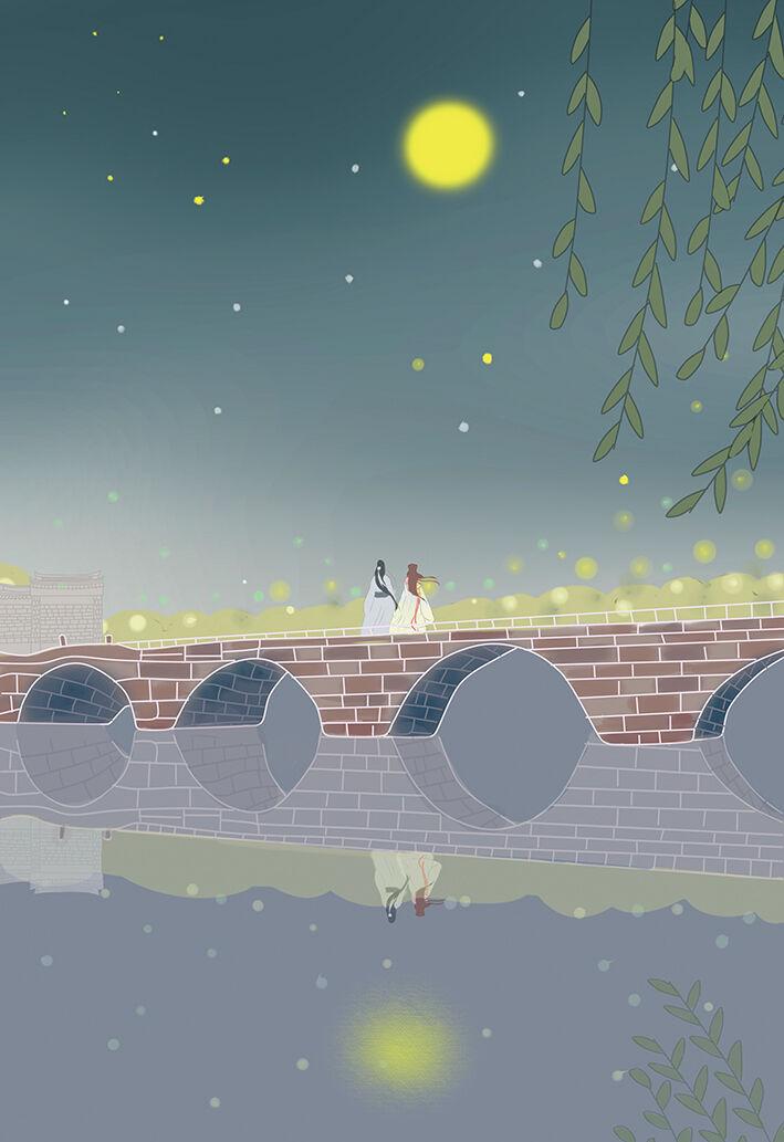 五洞桥的月夜