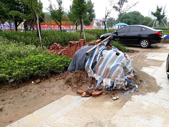 创卫警示榜:此地垃圾影响环境