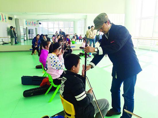 学生与浙音院教师面对面学艺