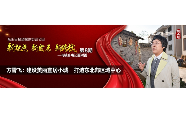 """【专题】方雪飞:建设美丽宜居小城 打造东北部区域中心——""""与镇乡书记面对面""""第八期"""