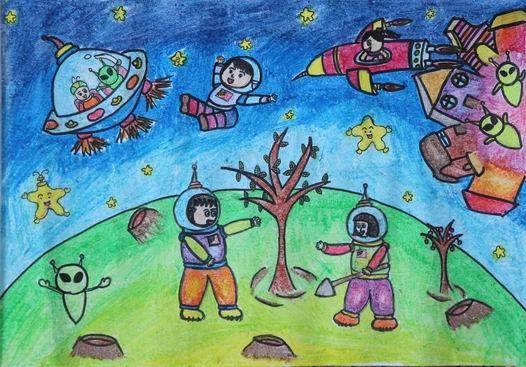 少儿书画作品图片