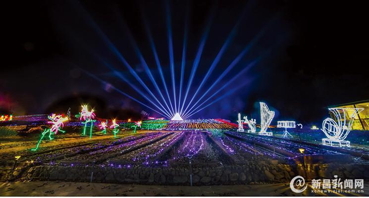 新嵊首届大型音乐灯光嘉年华开始了