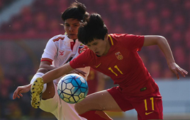 国际女足锦标赛:中国胜缅甸