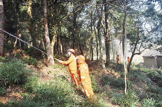 森林消防应急演练