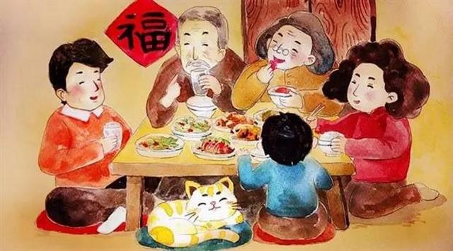 约莫下午4点,四周人家开始放鞭炮,那是要吃晚饭的信号.图片