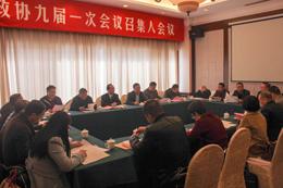 玉环县政协九届一次会议举行召集人会议