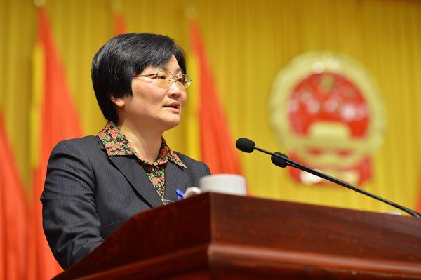 陈玲芳作《政府工作报告》