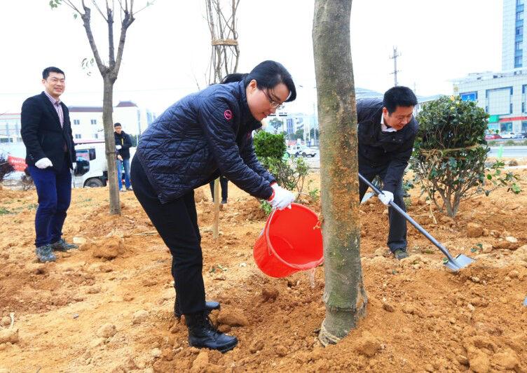 """庄继艳参加""""3.12""""义务植树活动"""