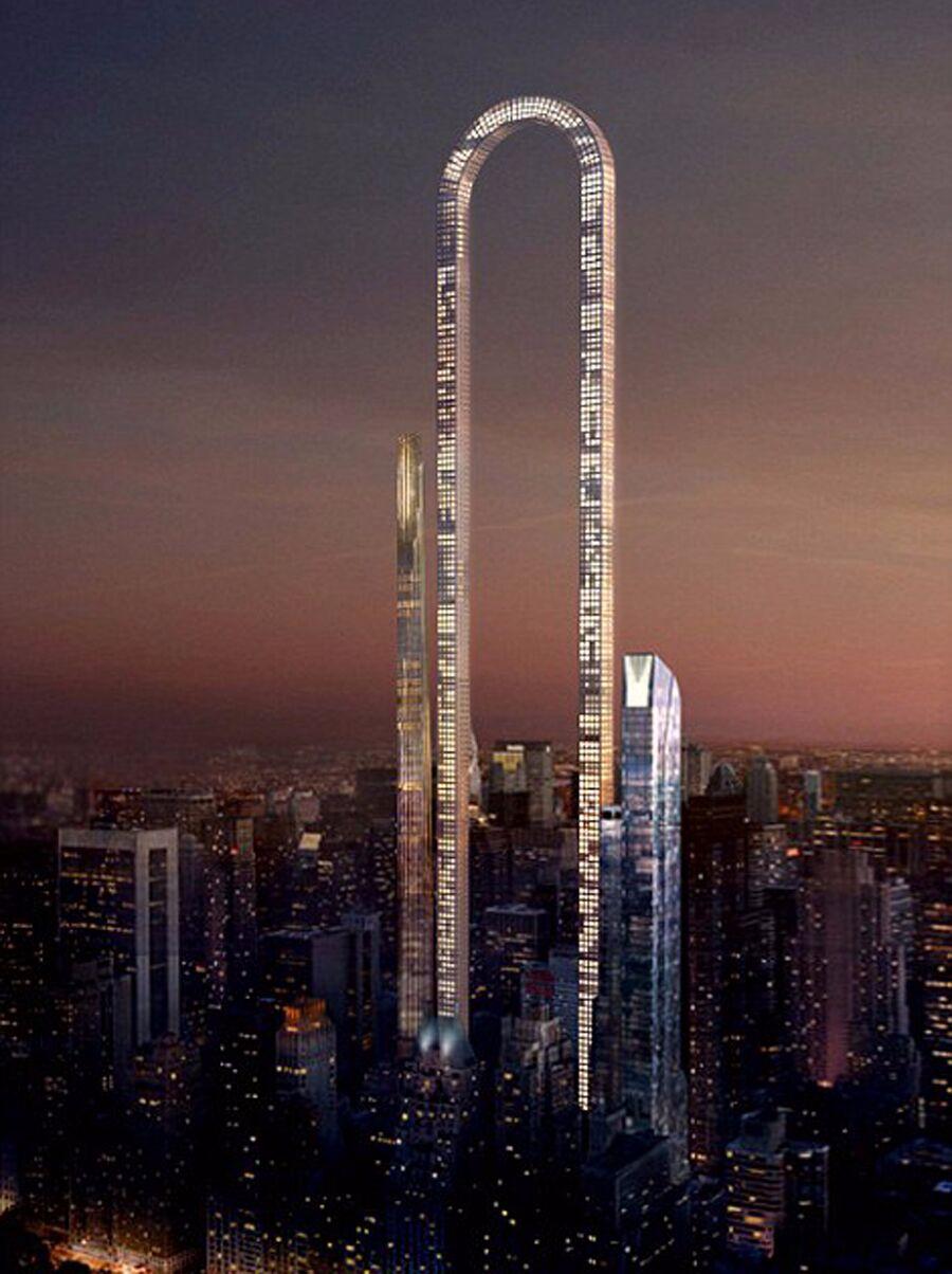 美国欲建U型大楼 建筑形似曲别针