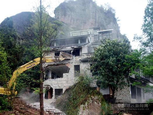 大肚岩景区一违法建筑被依法拆除