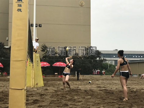 2017年浙江省青少年沙滩排球冠军赛在绍兴举行