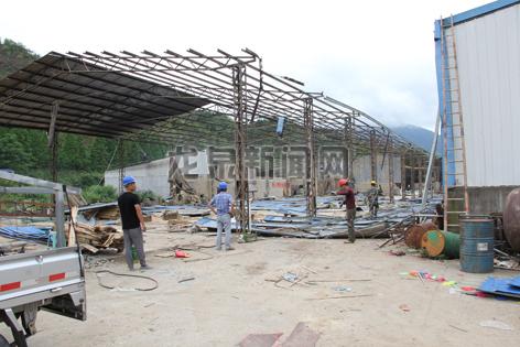 法用地、违法建设的企业展开全面拆除