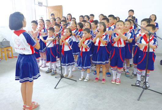 """白水洋镇丁公园小学举办了""""六一""""文艺演出活动"""