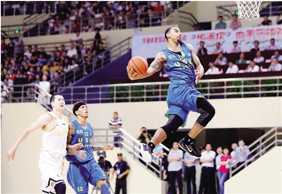 """""""华通杯""""中美职业篮球对抗赛激情四射"""
