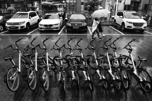 单车淋雨无人问津