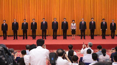 车俊当选中共浙江省委书记  新一届省委常委与记者见面
