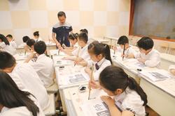 玉环举行第一届小学书法教师教学大比武