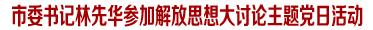 市委书记林先华参加解放思想大讨论主题党日活动