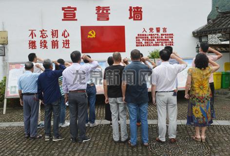 市档案局党支部组织全体党员到住龙镇住溪村红色教育基地,接受党性教育,重温入党宣誓