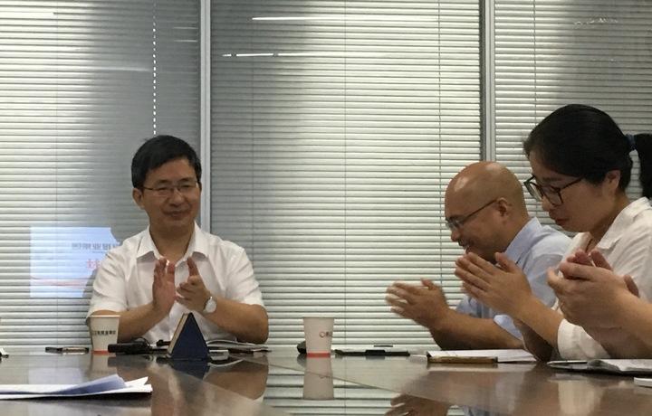 衢州市委常委、宣传部长钱伟刚调研浙报集团衢州分社