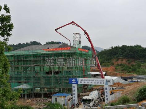 龙泉市南大洋水厂扩建及改造工程按计划顺利推进