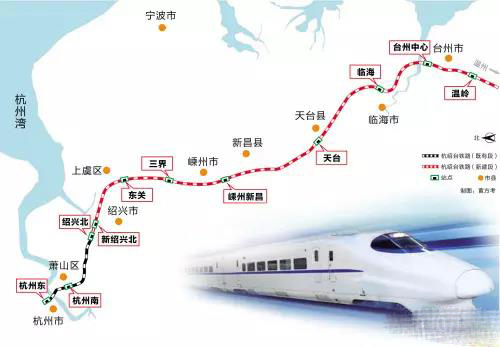 杭绍台铁路征地预公告出台