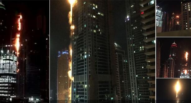 迪拜86层高楼突发火灾 尚无人员伤亡消息