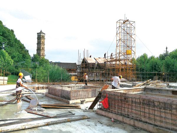 紫阳街南段历史文化展示区项目建设正加快进行。