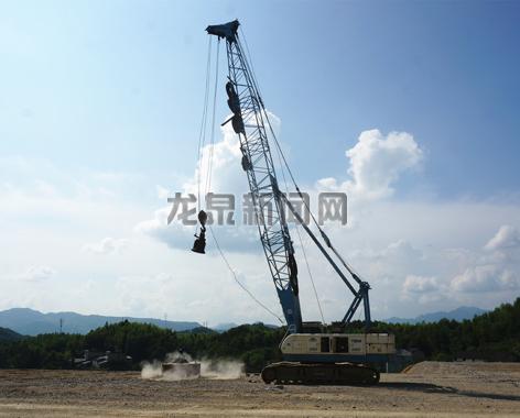 衢宁铁路(龙泉段)站房区块正在进行地块强夯工作,预计本月中旬即可完成