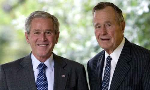 布什父子:反对任何形式种族主义