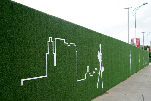 建筑工地的围挡建成这样,你喜欢吗?