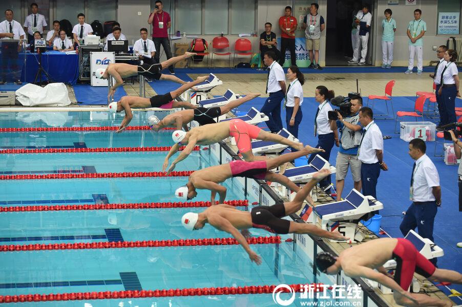 孙杨400米自由泳夺冠 收获全运会个人第一金