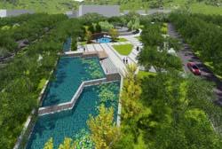 大麦屿:稳步推进入城口公园景观工程