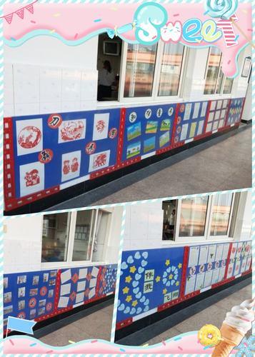 近日,屠甸镇小学组织开展了班级走廊文化墙布置活动.图片