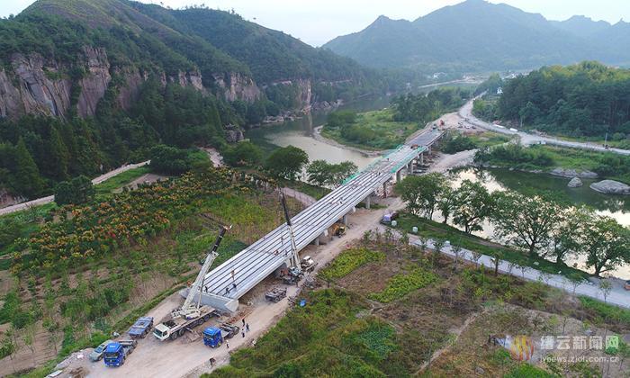 仙都前湖大桥建设取得重大进展