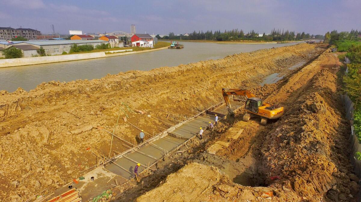 长山河拓宽改造有序推进