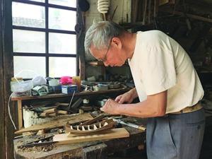 黄杨福的船模正在中国航海博物馆展出