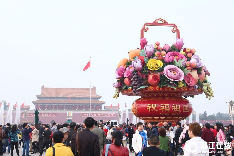 北京:花团锦簇 喜迎十九大