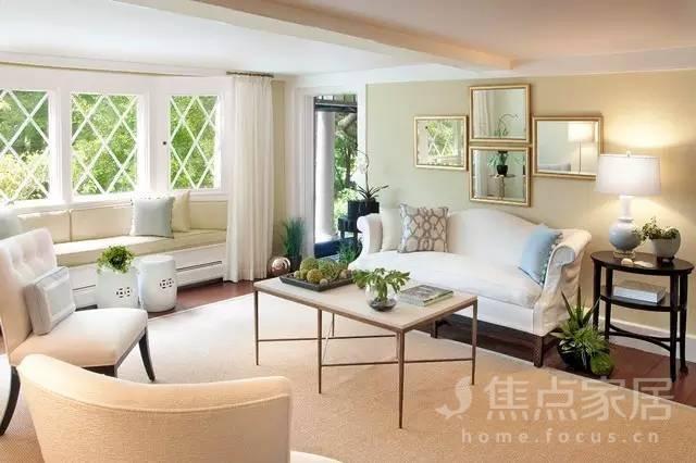 客厅装个飘窗可以少买一座沙发!