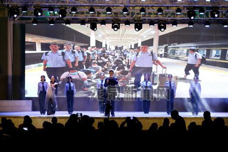市公安局贯彻党的十九大精神安全防范宣传晚会在瓯江一号码头举行