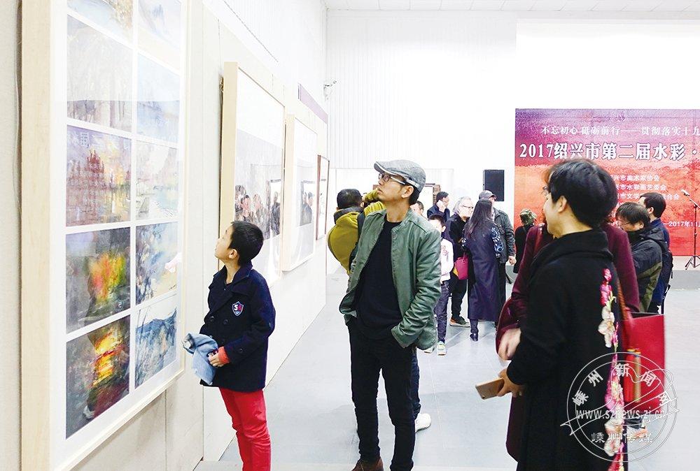水彩・粉画展在艺术村举行 72件作品展出