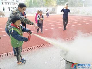 张村乡林业站联合乡校开展消防演练