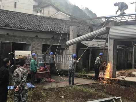 城北乡集中力量拆除违建面积最大的茶叶厂