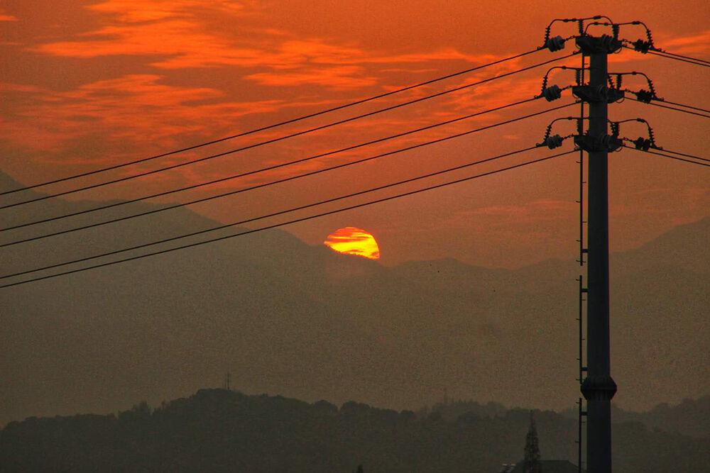 黄城的夕阳