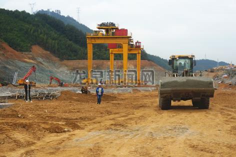 宁铁路龙泉段货场工程建设现场